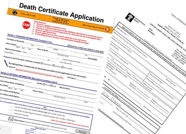 Applying for a misplaced death certificate is no longer a challenge